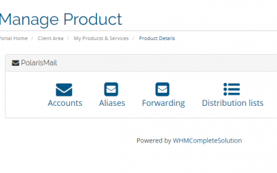 PolarisMail and WHMCS integration