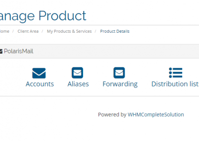 PolarisMail WHMCS module: our solution for white label email hosting resellers