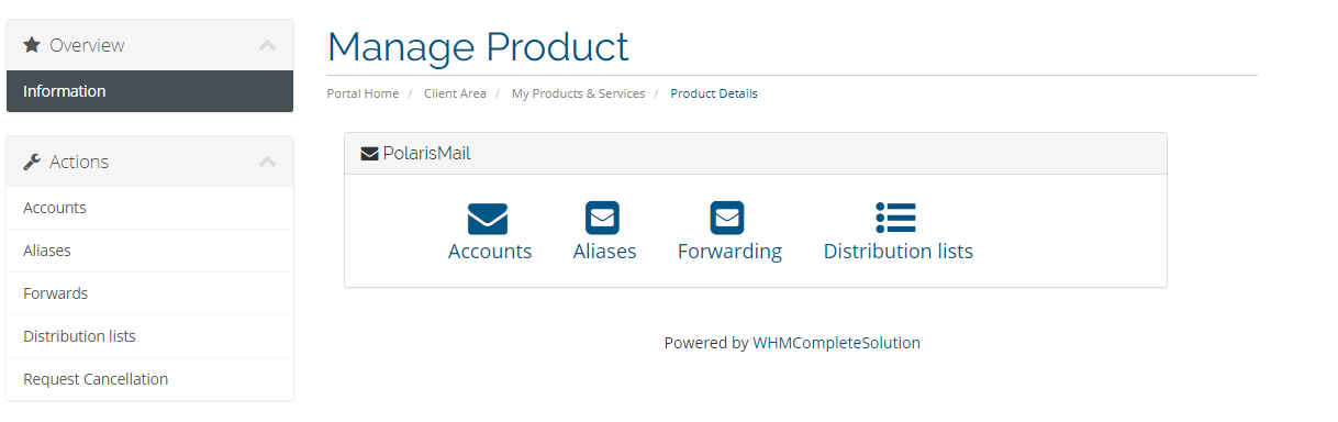 PolarisMail WHMCS module: our solution for white label e-mail hosting resellers