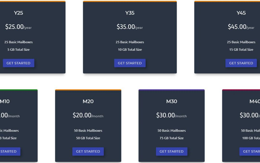 New E-mail hosting packages offered
