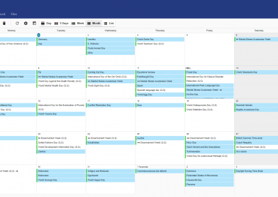 Preview of PolarisMail's webmail: GroupOffice. Check your calendar, add events, set reminders and many more.