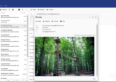 Preview of PolarisMail's webmail: GroupOffice. Check your email, calendar, contacts, tasks and notes from any device.