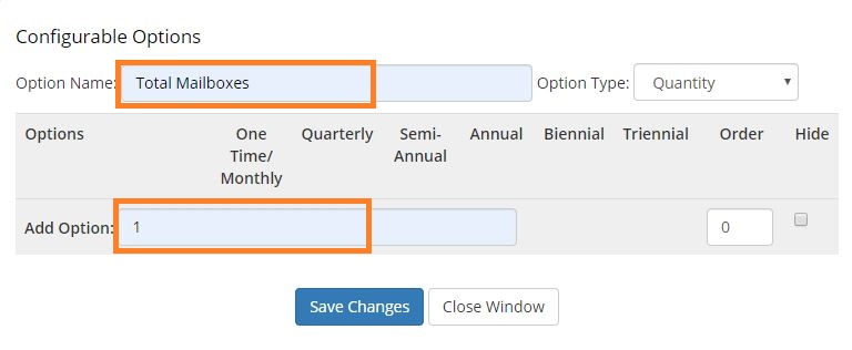 Add new configurable option - total mailboxes